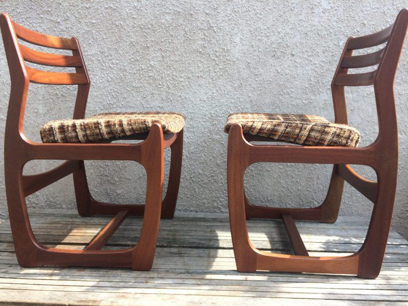 Magnificent 4 X Retro Teak Dining Chairs 1960S 1970S Portwood Danish Download Free Architecture Designs Rallybritishbridgeorg