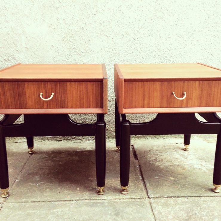 Restored Pair of Vintage G Plan Tola Bedside Tables