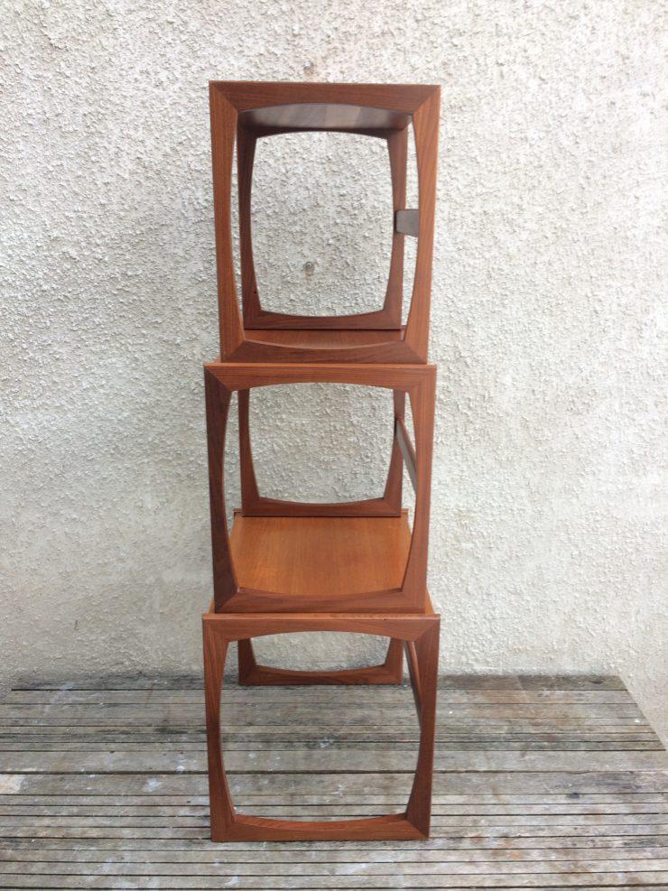 Classic G Plan Quadrille Teak Nest Of Tables Retro 1970's