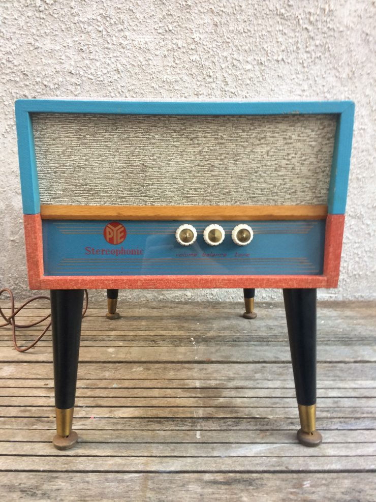 1950s PYE Record Player on Dansette Style Legs