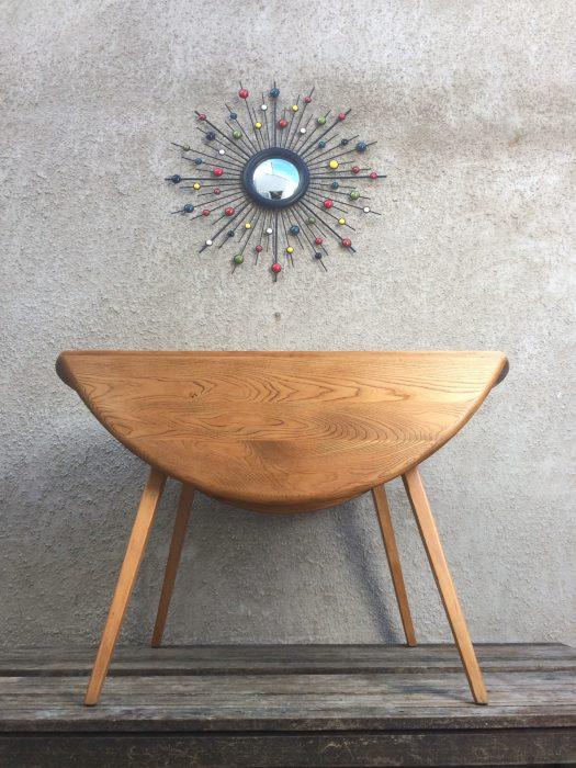 Vintage 1960s Windsor Blonde Ercol Drop Leaf Dining Table