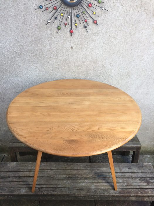 Vintage 1960s Windsor Blonde Ercol Drop Leaf Dining Table