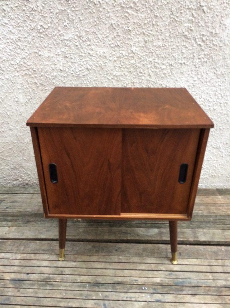 Vintage Mid Century Record LP Storage Cabinet Mid Century