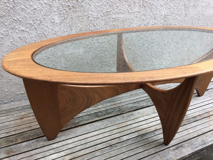 Mid Century Oval Astro Coffee Table By V B Wilkins For