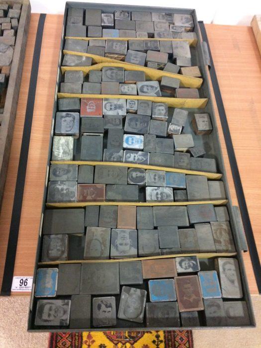 1960s Printing Tray Cabinet and Printing Blocks