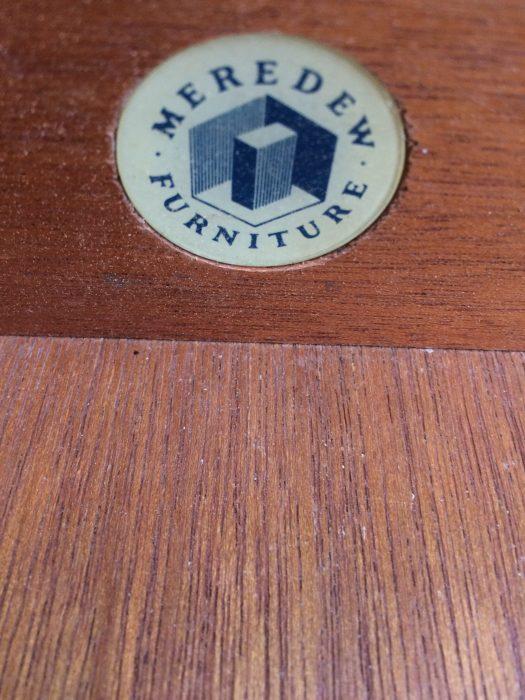 Elegant Mid Century Meredew Blonde Bedside Table Cabinet