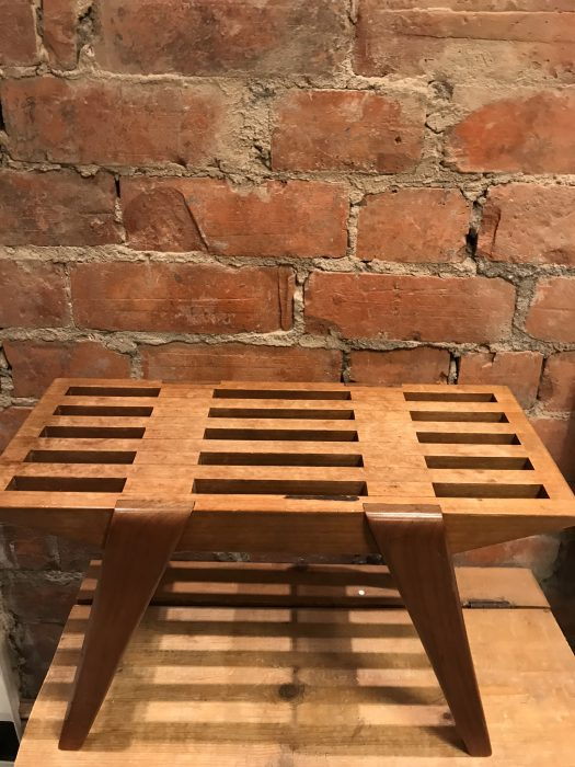 Vintage Retro Wooden Foot Stool Side Table Danish Style Mid Century