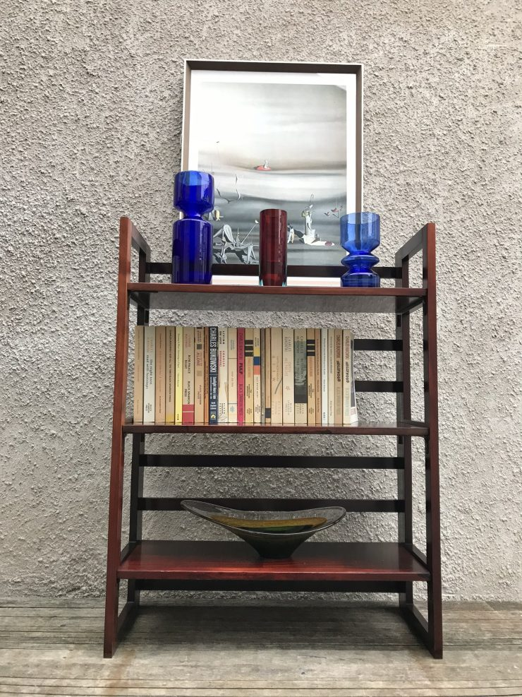 Vintage Mid Century Wooden Collapsible Foldable Portable Shelves - Ex-Retail