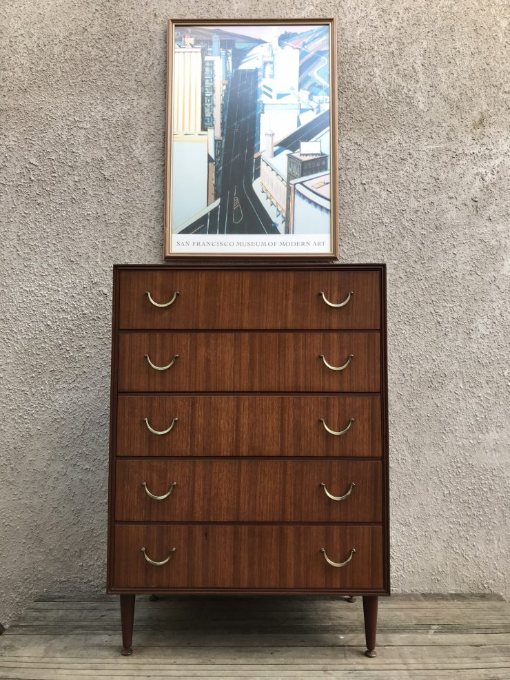 Another Mid Century Teak Tall Boy Chest of Drawers by Meredew