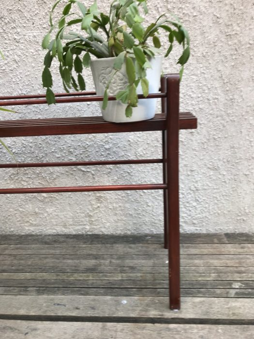 Vintage Danish Style Wooden Trough / Plant Stand