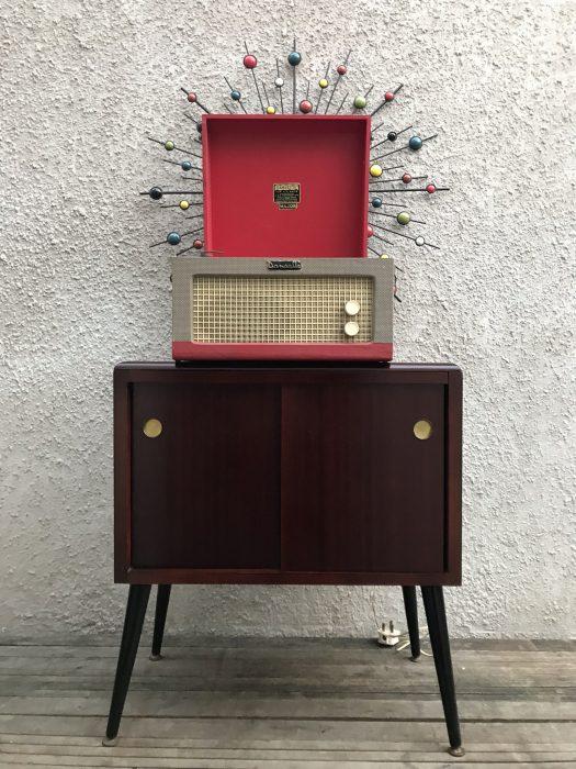Vintage Retro Mid Century Record Vinyl Cabinet Cupboard Atomic Dansette Legs