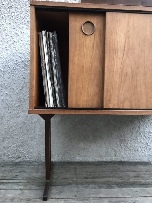 Retro Record Vinyl TV Cabinet Cupboard on Industrial Raised Legs