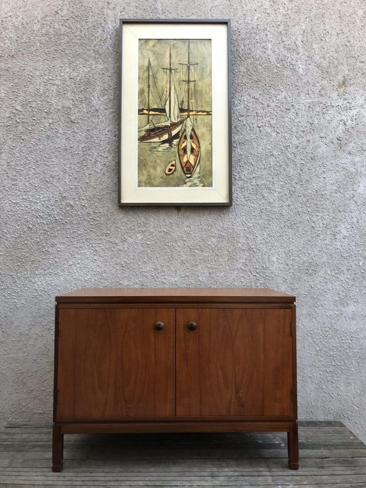 Mid Century Record Vinyl Cabinet Cupboard