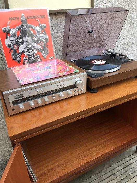 Retro Mid Century Record Vinyl TV Media Cabinet Cupboard Sideboard