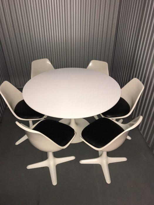 Original Arkana 'Tulip' Dining Table And Six Chairs