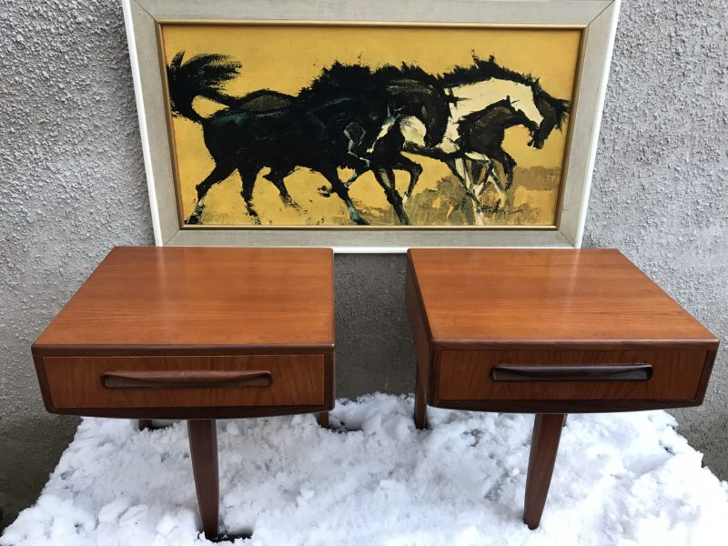 pair of retro g plan fresco floating bedside tables 1970s