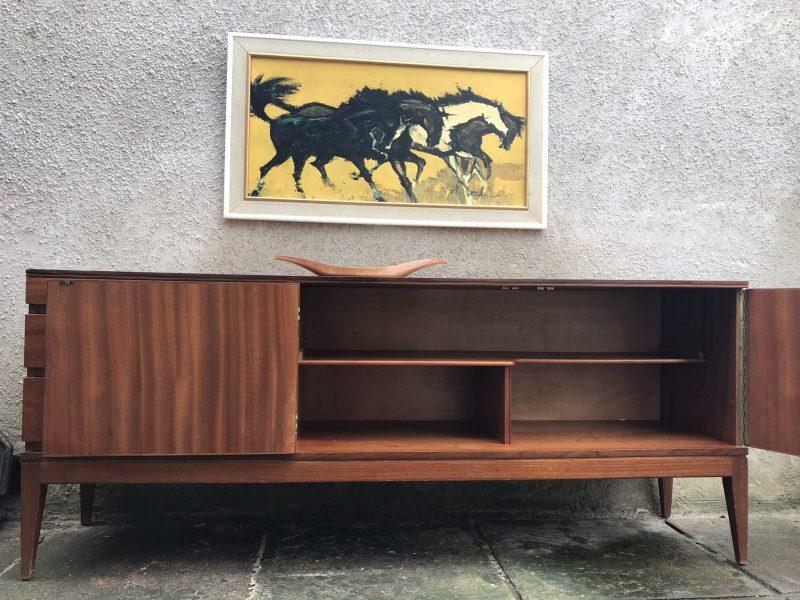 Sleek Mid Century Vintage Teak Sideboard