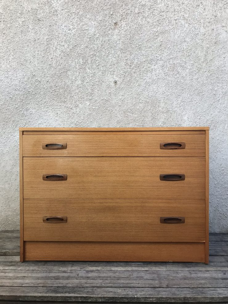 Pair Of Retro Vintage Mid Century Teak G Plan Style Chest of Drawers 1960s 70s