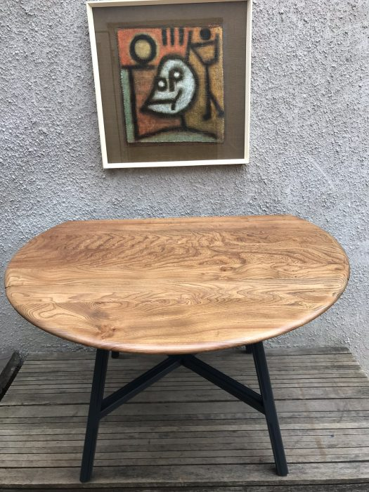 1960s Ercol 377 Elm & Beech Old Colonial Drop Leaf Dining Table