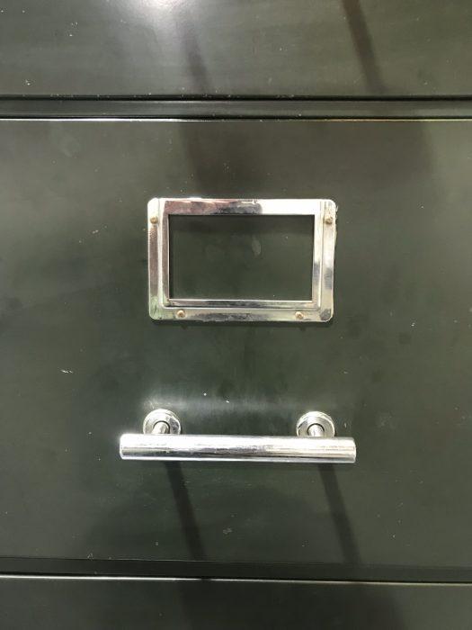 Vintage 4 Drawer Metal Filing Cabinet