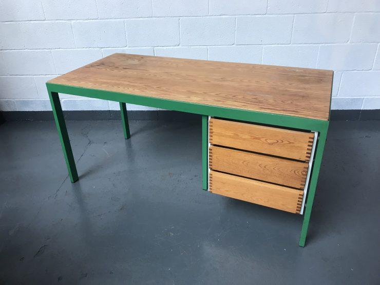 Industrial Retro 3 Drawer Metal & Wood Desk