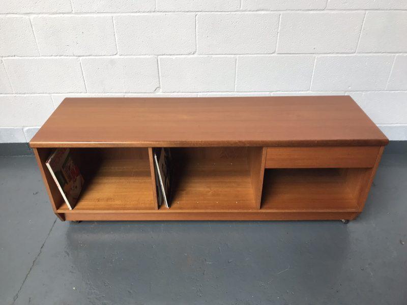 Retro G Plan Style Low-board Media TV Vinyl Cabinet Storage