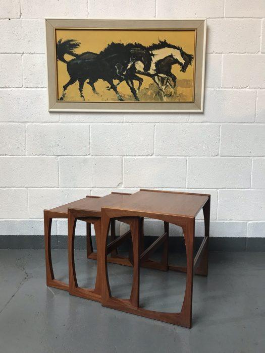 Retro 1970'sClassic G Plan Quadrille Teak Nest Of Tables