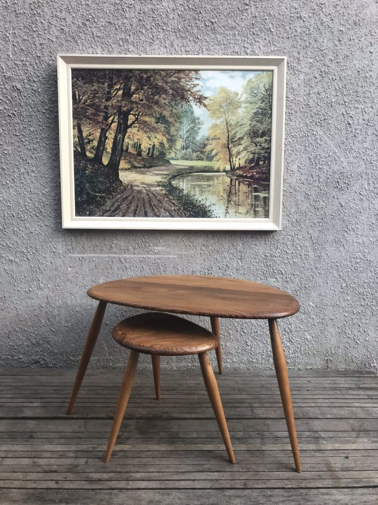 2 x 1960s Ercol Pebble Tables