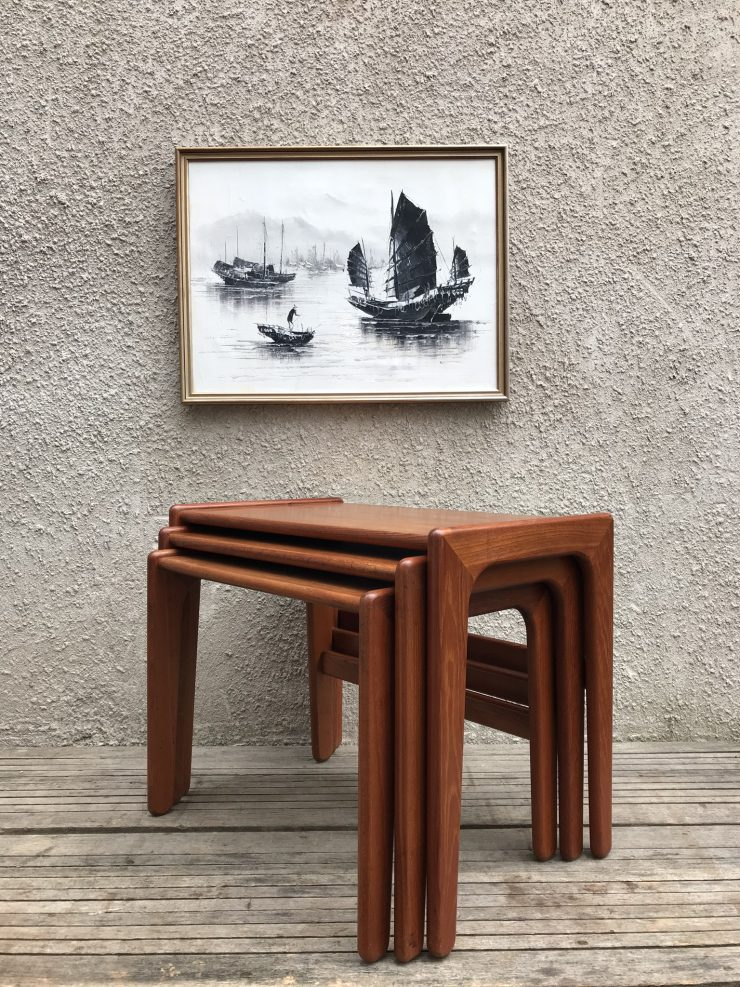 Vintage Mid Century Salin 5800 Nyborg Danish Nest of Tables Teak