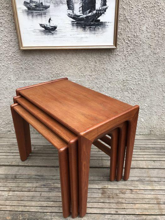 Vintage Mid Century Salin 5800 Nyborg Danish Nest of Tables Teak