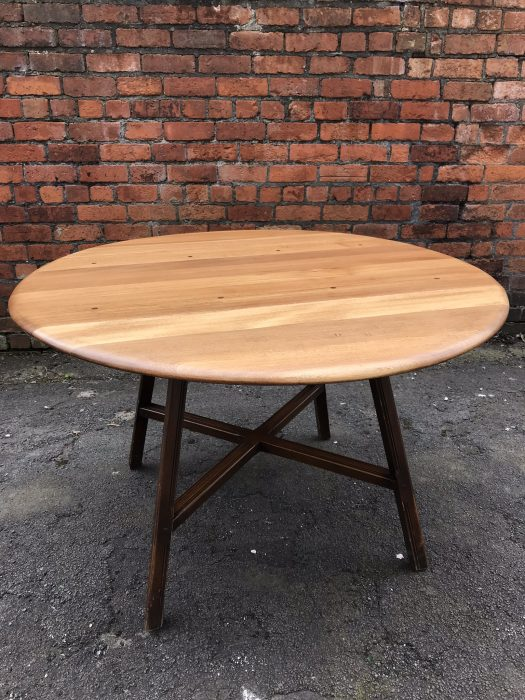 1960s Ercol Elm & Beech Old Colonial 377 Drop Leaf Dining Table