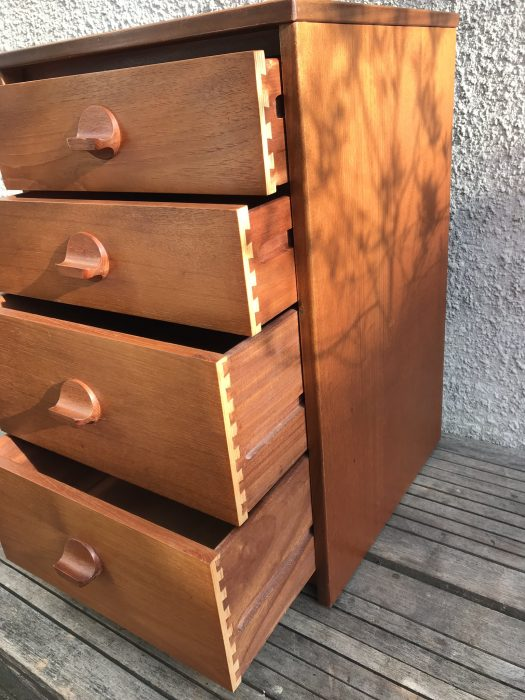 Vintage Mid Century Teak Chest of Drawers by Stag