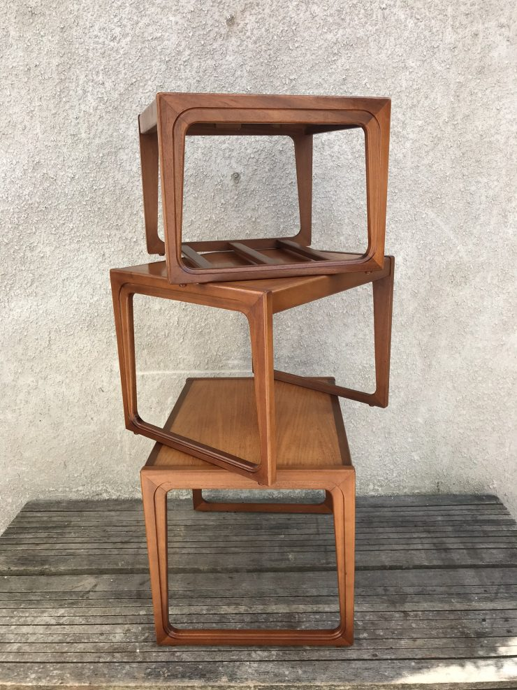 Classic Retro Teak Nest Of Tables 1970's