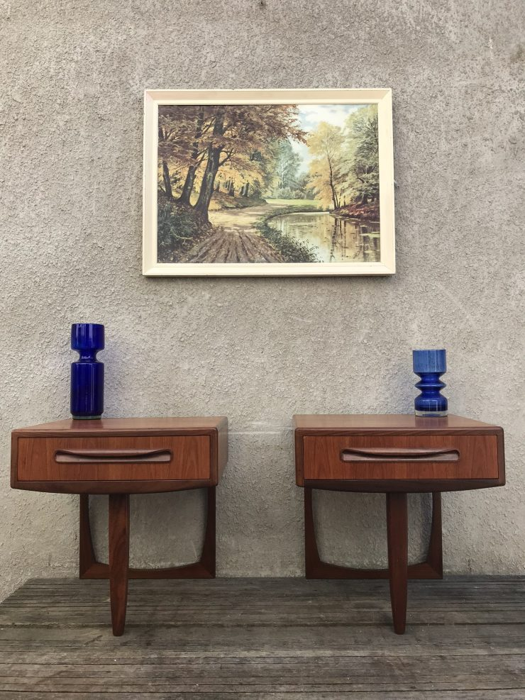 Pair of Retro G Plan Fresco Floating Bedside Tables
