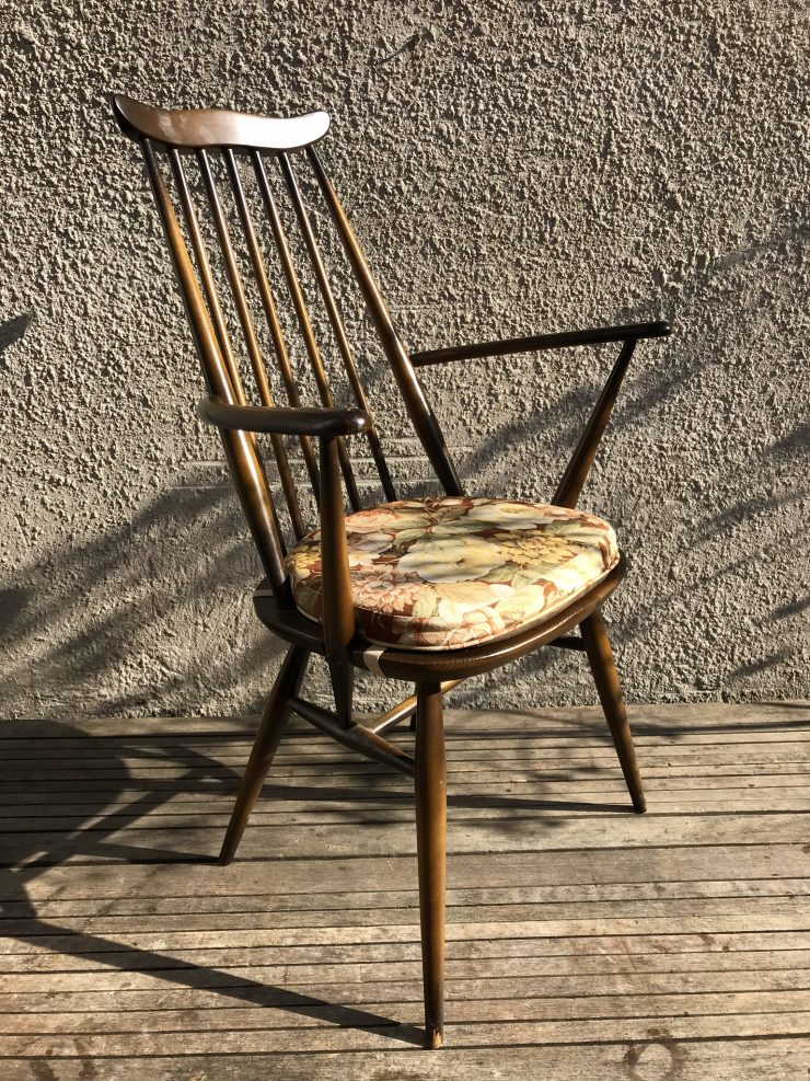 Vintage Retro Single Ercol Windsor Goldsmith Kitchen Armchair