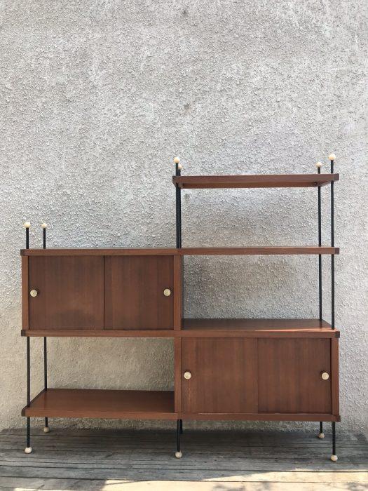 Vintage Retro 3 Tier Shelving Storage Bookcase Unit Sputnik Atomic Era 1960's