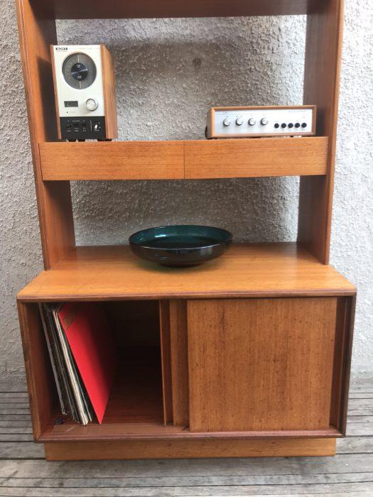 Vintage Mid Century Retro G PLAN Form Five Range Wall Unit Vinyl Storage