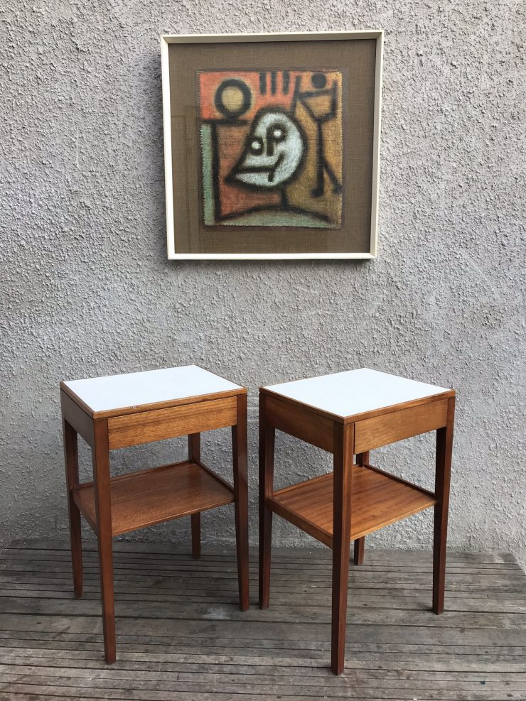 Pair of Mid Century REMPLOY / Ex MOD Bedside Tables