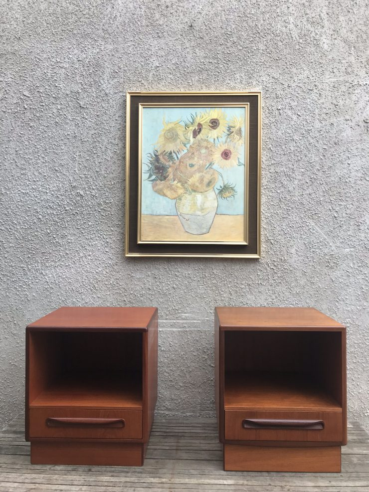 Pair Of Mid Century G Plan Fresco Teak Bedside Cabinets