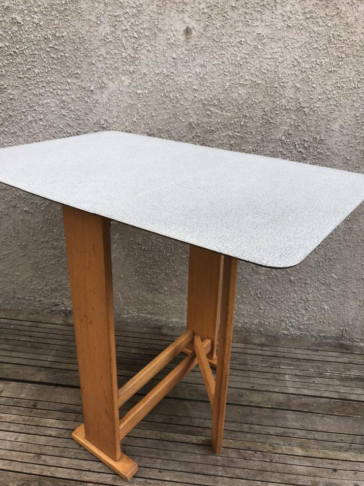 Vintage 1950s Mid Century Melamine Gate Leg Kitchen Table