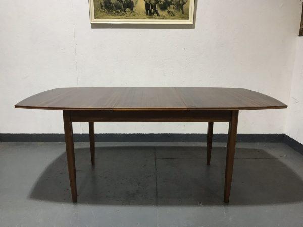 Vintage Mid Century Zebrano ELLIOTS OF NEWBURY Extendable Dining Room Table