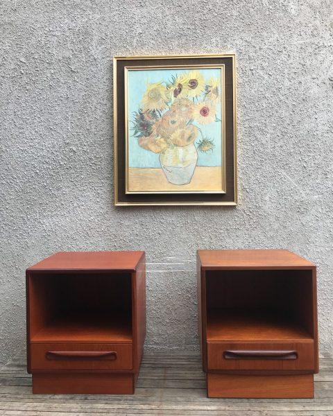 Pair Of Mid Century G Plan Fresco Teak Bedside Cabinets