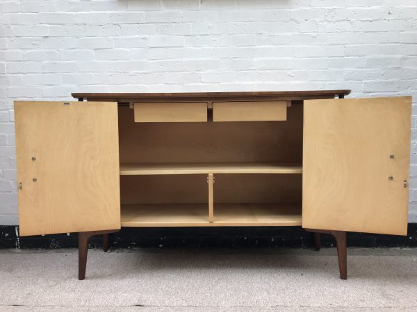 Mid Century Vintage 1950s Sideboard Credenza By EVEREST