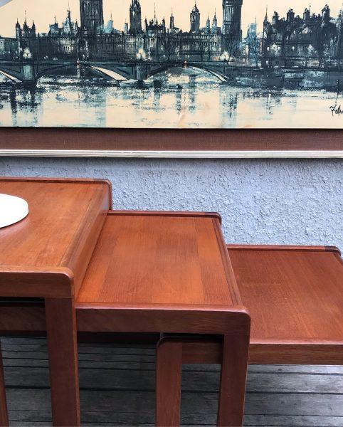Retro Teak Nest Of Tables Danish Style