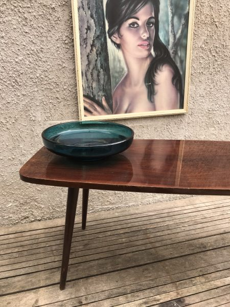 Mid Century 1950s Coffee Table with Dansette Legs