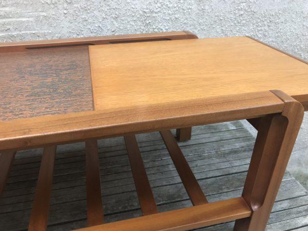 Vintage 1970s Teak REMPLOY Extendable Coffee Table