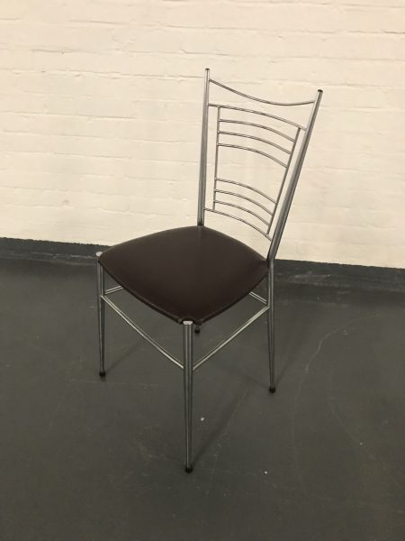 Vintage 1960s SUPERMATIC French Extendable Dining Table & 4 Matching Bistro Chairs