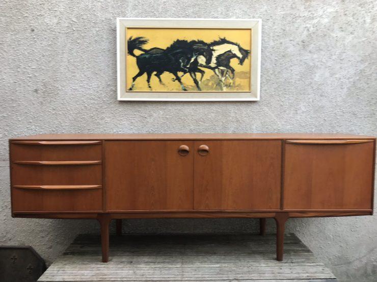 Vintage 1960s Mcintosh Teak Sideboard