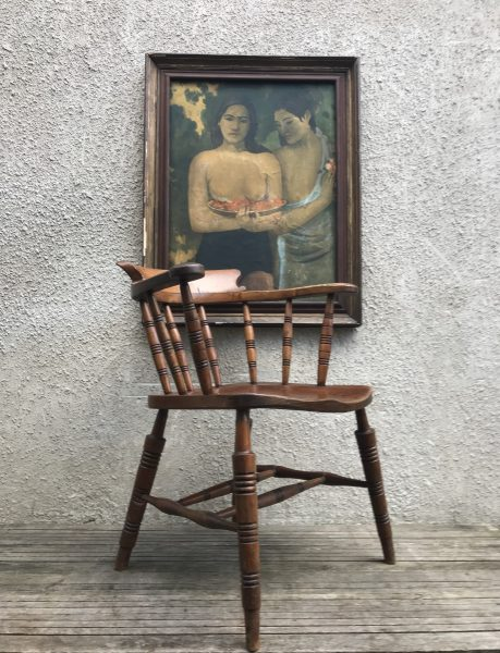 Antique Oak Glenister's High Wycombe Armchair / Carver Chair