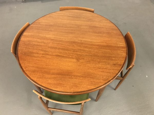 Vintage G Plan Fresco Dining Table and 4 Kofod Larsen Dining Chairs
